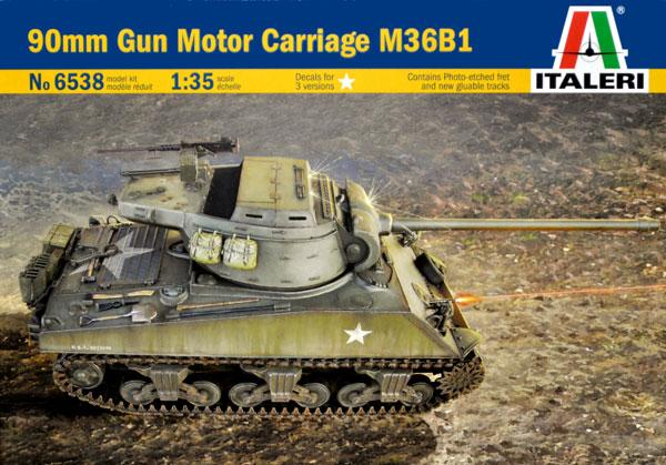 90mm GMC M36B1プラモデル(イタレリ1/35 ミリタリーシリーズNo.6538)商品画像
