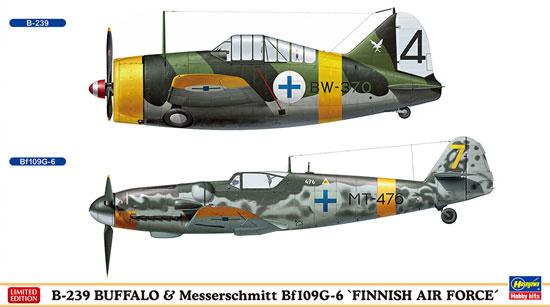B-239 バッファロー & メッサーシュミット Bf109G-6 フィンランド空軍プラモデル(ハセガワ1/72 飛行機 限定生産No.02279)商品画像
