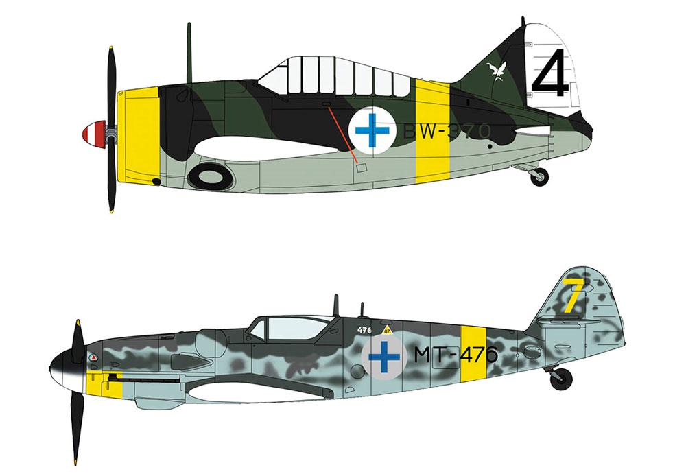 B-239 バッファロー & メッサーシュミット Bf109G-6 フィンランド空軍プラモデル(ハセガワ1/72 飛行機 限定生産No.02279)商品画像_2