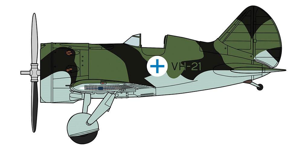 ポリカルポフ I-16 フィンランド空軍プラモデル(ハセガワ1/32 飛行機 限定生産No.08254)商品画像_2