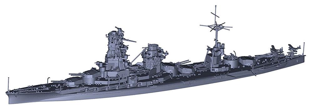 日本海軍 戦艦 日向 昭和17年 5番砲塔無しプラモデル(フジミ1/700 特シリーズNo.097EX-001)商品画像_3