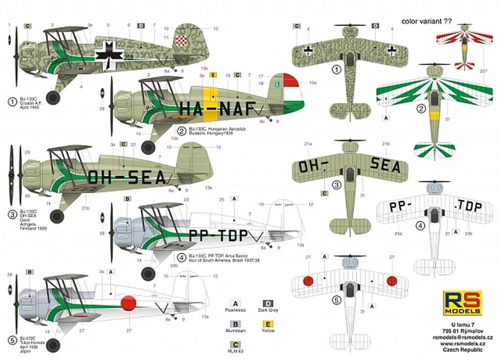 ビュッカー Bu133C ユングマイスター グリーンストライププラモデル(RSモデル1/72 エアクラフト プラモデルNo.92222)商品画像_2