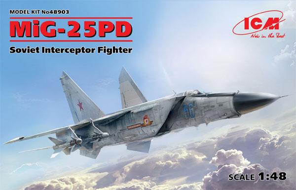 MiG-25PDプラモデル(ICM1/48 エアクラフト プラモデルNo.48903)商品画像