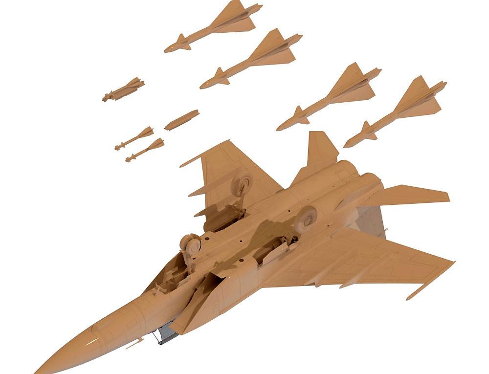 MiG-25PDプラモデル(ICM1/48 エアクラフト プラモデルNo.48903)商品画像_3