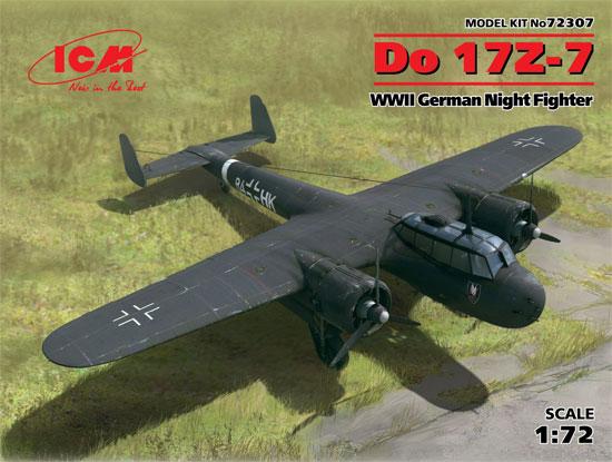 ドルニエ Do17Z-7 夜間戦闘機プラモデル(ICM1/72 エアクラフト プラモデルNo.72307)商品画像