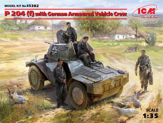 ドイツ P204(f) 装甲車 w/クループラモデル(ICM1/35 ミリタリービークル・フィギュアNo.35382)商品画像