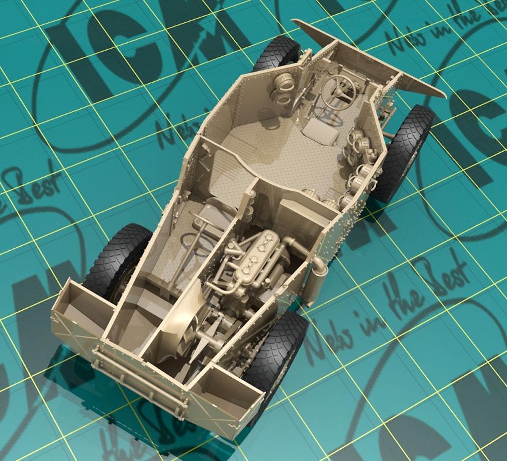 ドイツ P204(f) 装甲車 w/クループラモデル(ICM1/35 ミリタリービークル・フィギュアNo.35382)商品画像_2