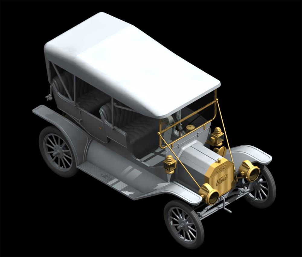 T型フォード 1911 w/アメリカ 女性整備士プラモデル(ICM1/24 カーモデルNo.24010)商品画像_1