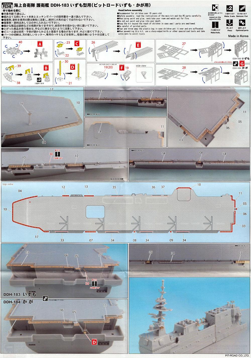 海上自衛隊 護衛艦 DDH いずも型用 エッチングパーツ (ベーシック)エッチング(ピットロード1/700 エッチングパーツシリーズNo.PE-246)商品画像_2
