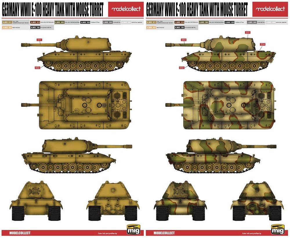 ドイツ E-100 超重戦車 マウス砲塔プラモデル(モデルコレクト1/72 AFV キットNo.UA72068)商品画像_1