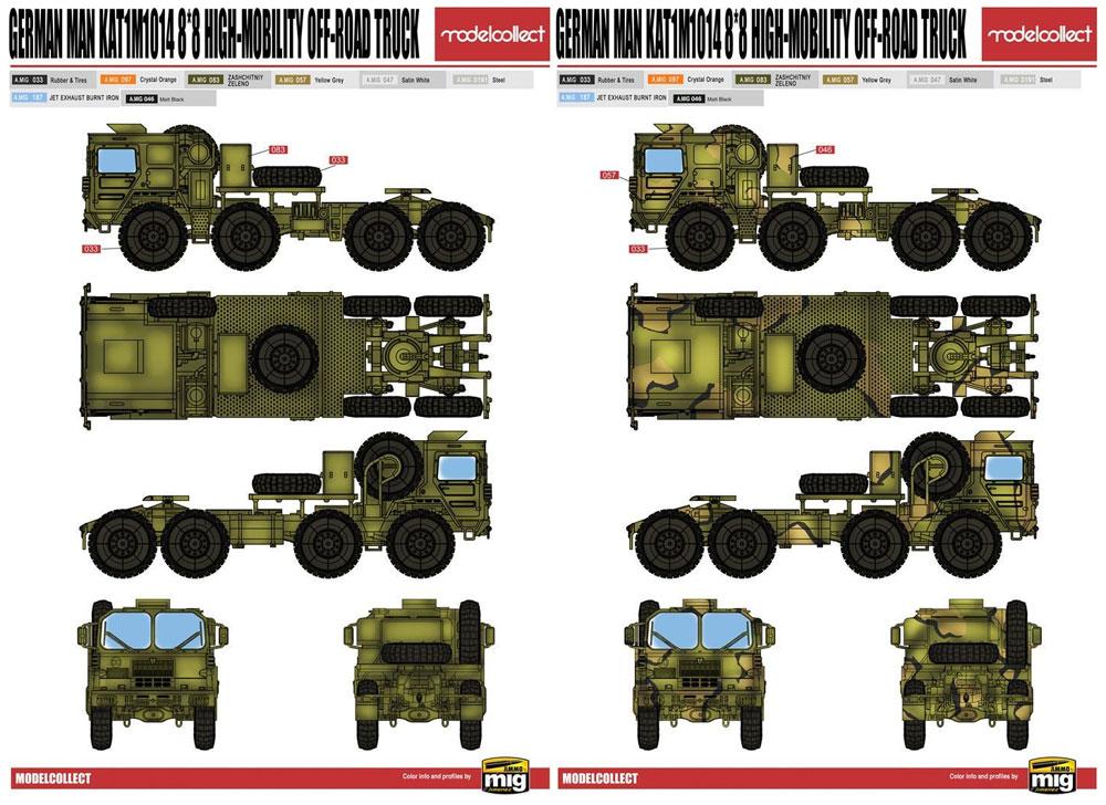 ドイツ MAN KAT1 M1014 8x8 高機動オフロードトラックプラモデル(モデルコレクト1/72 AFV キットNo.UA72132)商品画像_1