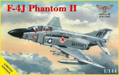 F-4J ファントム 2プラモデル(ソヴァ M1/144 エアクラフトNo.SVM-14001)商品画像