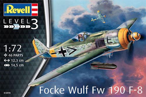 フォッケウルフ Fw190F-8プラモデル(レベル1/72 飛行機No.03898)商品画像