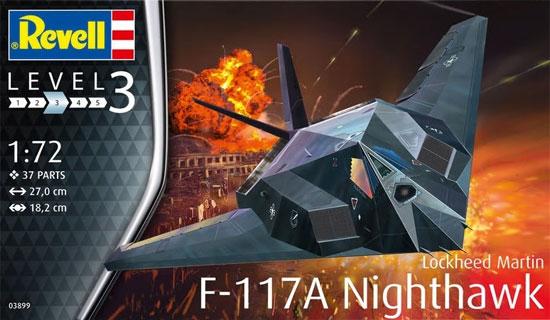 F-117A ナイトホークプラモデル(レベル1/72 飛行機No.03899)商品画像