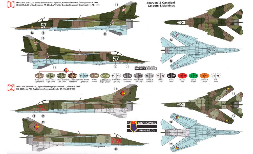 MiG-23BN ワルシャワ条約加盟国プラモデル(KPモデル1/72 エアクラフト プラモデルNo.KPM0095)商品画像_1
