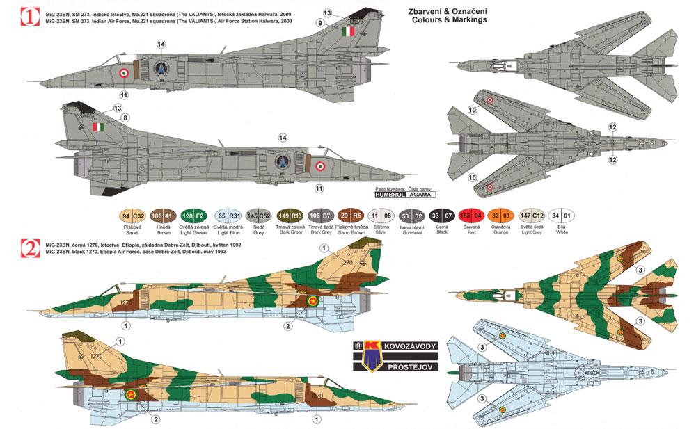 MiG-23BN インターナショナルプラモデル(KPモデル1/72 エアクラフト プラモデルNo.KPM0096)商品画像_1
