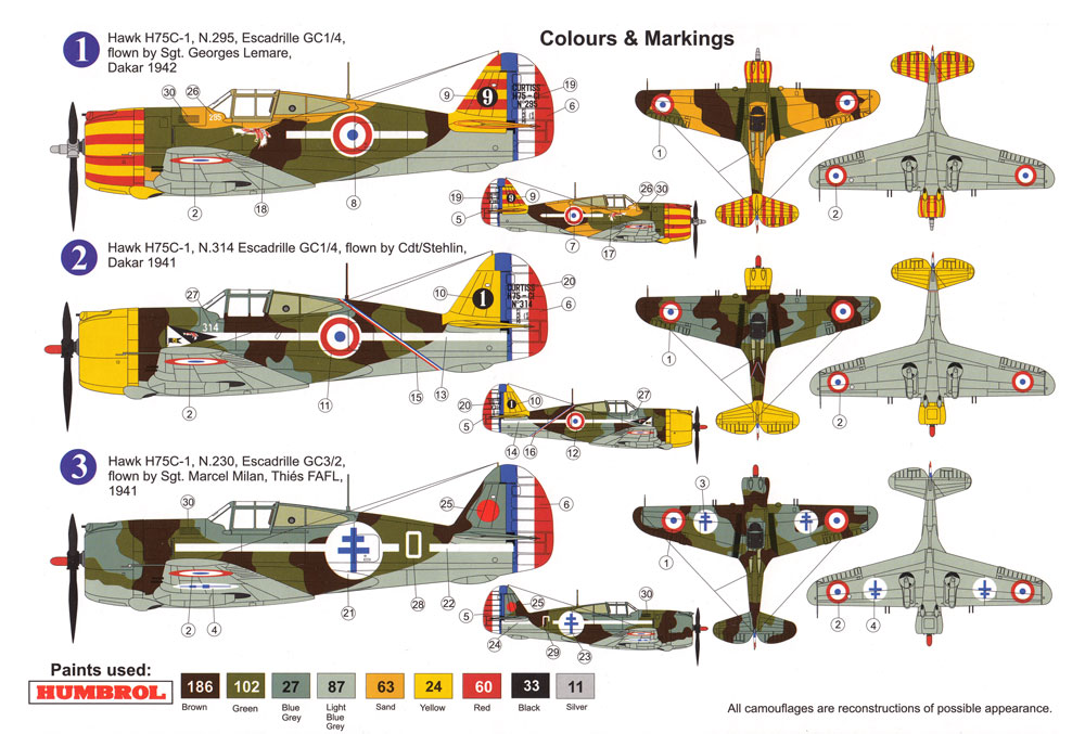 カーチス ホーク H-75C1北アフリカ戦線プラモデル(AZ model1/72 エアクラフト プラモデルNo.AZ7575)商品画像_1
