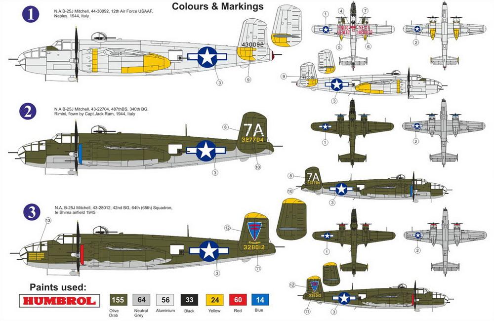 B-25J ミッチェル アメリカ陸軍航空軍プラモデル(AZ model1/72 エアクラフト プラモデルNo.AZ7586)商品画像_1