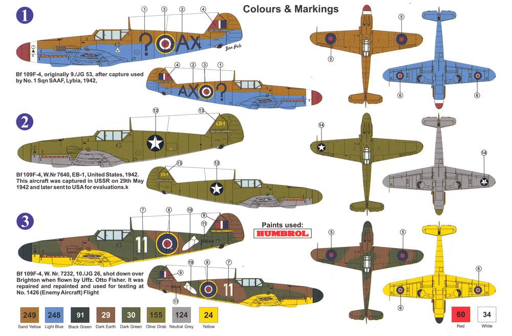メッサーシュミット Bf109F-4 鹵獲機プラモデル(AZ model1/72 エアクラフト プラモデルNo.AZ7587)商品画像_1