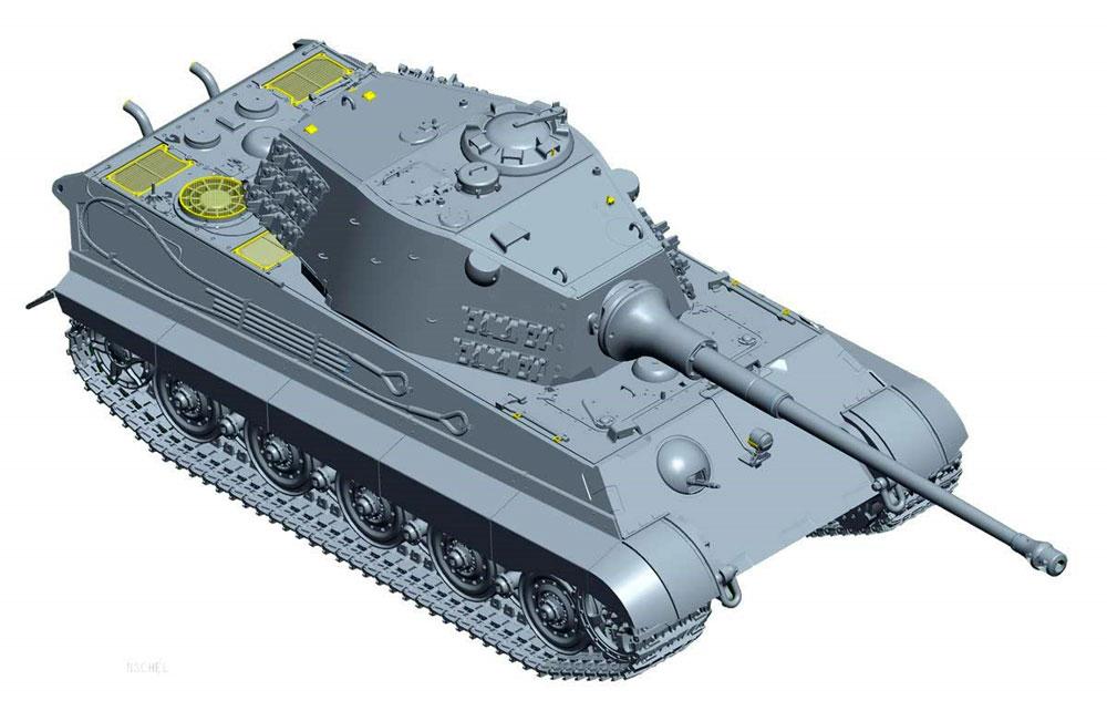 ドイツ重戦車 キングタイガー (ヘンシェル砲塔) 計画仕様プラモデル(童友社1/35 プラモデルNo.35-KT2)商品画像_2