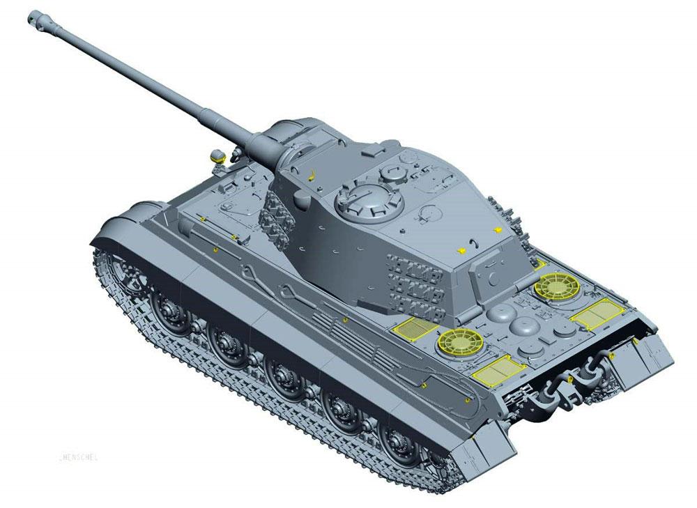 ドイツ重戦車 キングタイガー (ヘンシェル砲塔) 計画仕様プラモデル(童友社1/35 プラモデルNo.35-KT2)商品画像_3