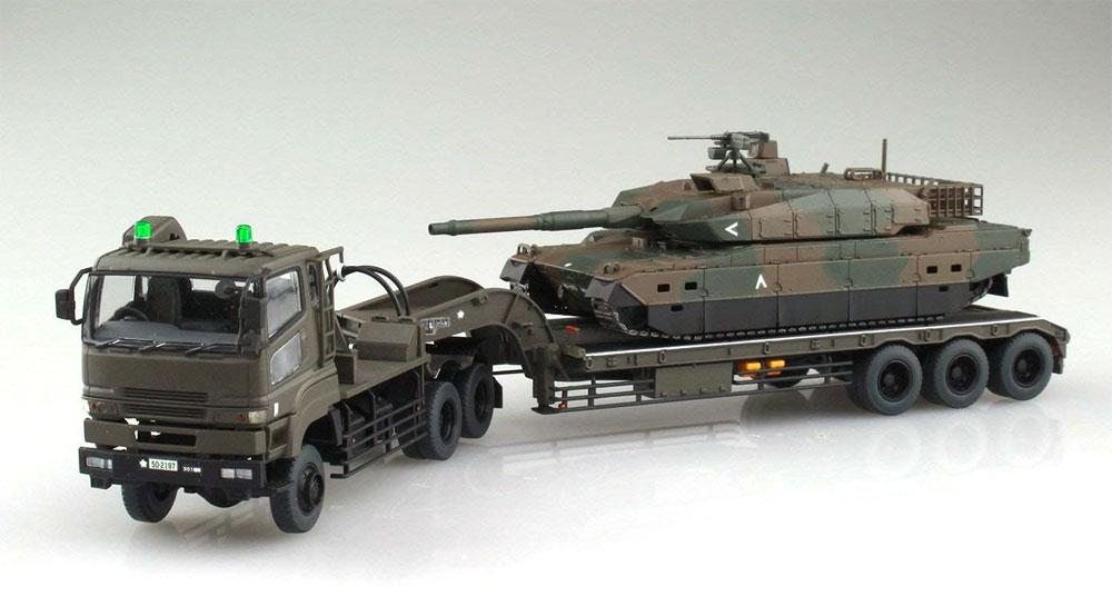 陸上自衛隊 10式戦車 & 特大型セミトレーラー付属プラモデル(アオシマ1/72 ミリタリーモデルキットシリーズNo.016)商品画像_2
