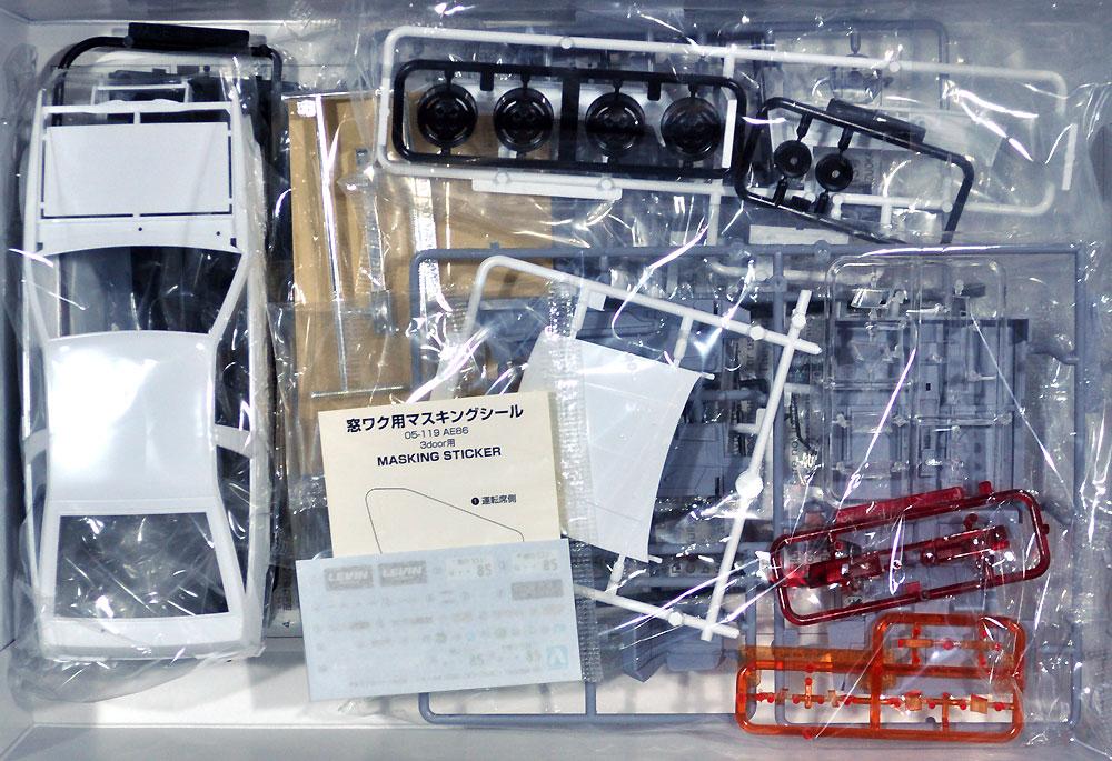 トヨタ AE85 カローラレビン 1500SR '85プラモデル(アオシマ1/24 ザ・モデルカーNo.旧085)商品画像_1