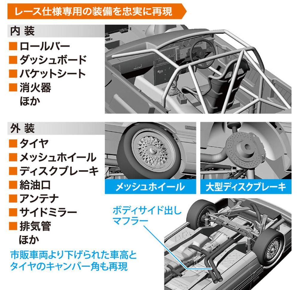 カルソニック スカイライン GTS-R (R31)プラモデル(ハセガワ1/24 自動車 HCシリーズNo.HC027)商品画像_3