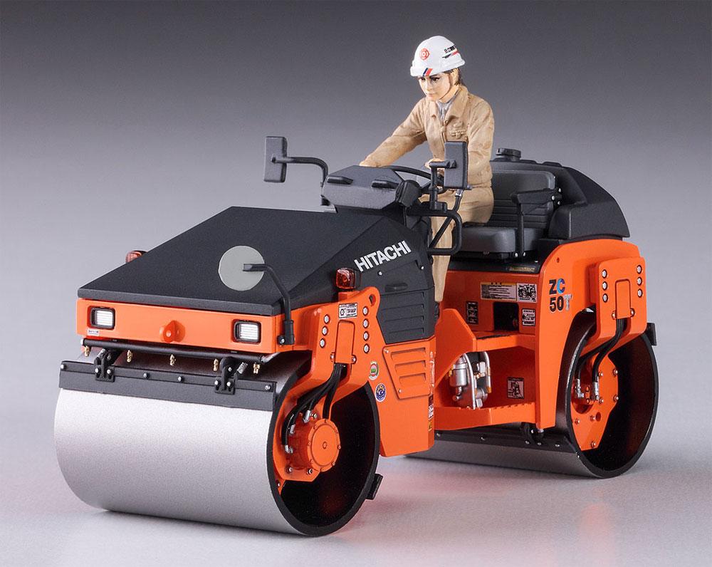 日立建機 タンデム振動ローラ ZC50T-5プラモデル(ハセガワ建機シリーズNo.66101)商品画像_2