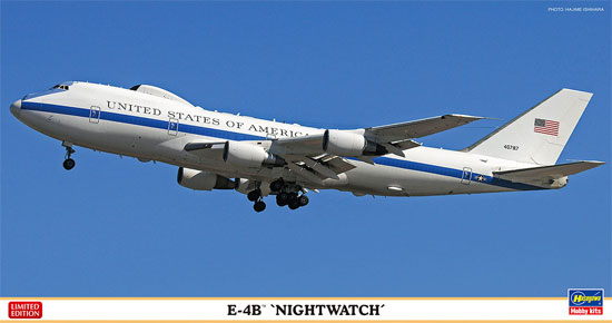 E-4B ナイトウォッチプラモデル(ハセガワ1/200 飛行機 限定生産No.10825)商品画像