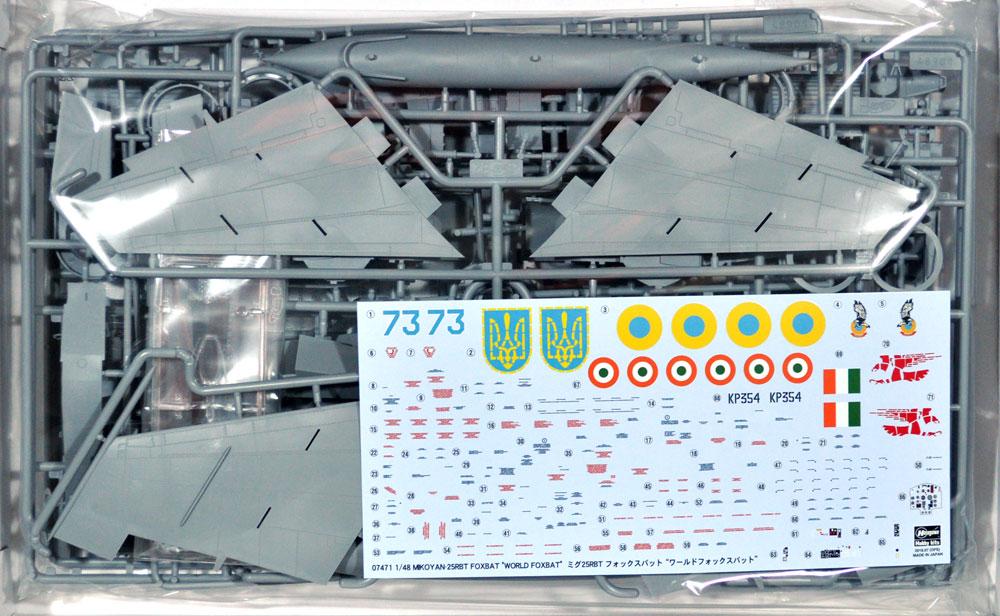 ミグ 25RBT フォックスバット ワールドフォックスバットプラモデル(ハセガワ1/48 飛行機 限定生産No.07471)商品画像_1