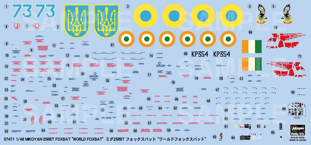ミグ 25RBT フォックスバット ワールドフォックスバットプラモデル(ハセガワ1/48 飛行機 限定生産No.07471)商品画像_2