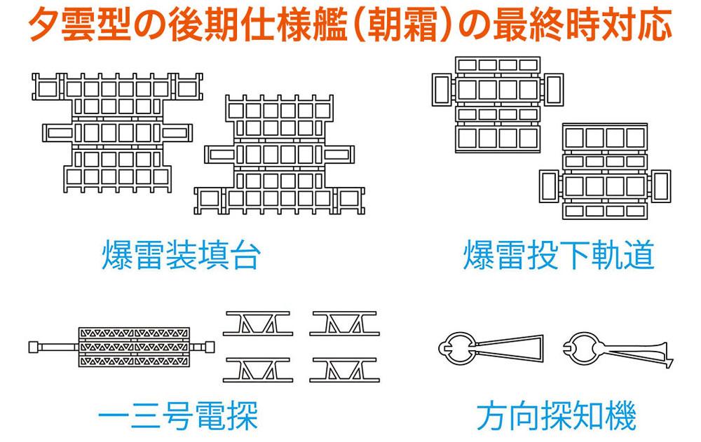 駆逐艦 夕雲型 ディテールアップ エッチング B (朝霜用)エッチング(ハセガワウォーターライン ディテールアップパーツNo.30052)商品画像_2