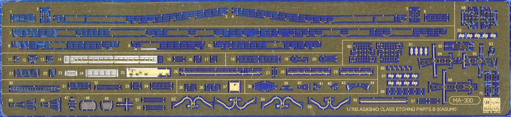 駆逐艦 朝潮型 ディテールアップ エッチング B (霞用)エッチング(ハセガワウォーターライン ディテールアップパーツNo.30053)商品画像_1