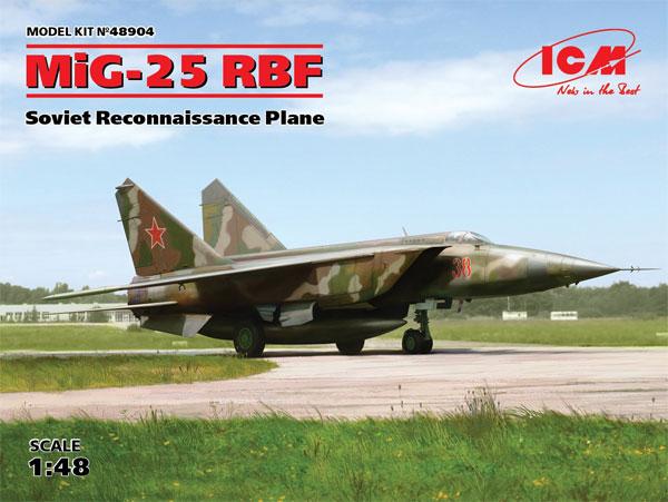 MIG-25 RBFプラモデル(ICM1/48 エアクラフト プラモデルNo.48904)商品画像