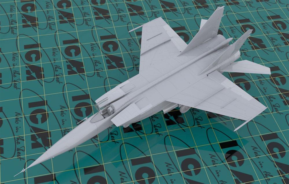 MIG-25 RBFプラモデル(ICM1/48 エアクラフト プラモデルNo.48904)商品画像_1