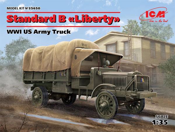 スタンダード B リバティ WW1 アメリカ陸軍 トラックプラモデル(ICM1/35 ミリタリービークル・フィギュアNo.35650)商品画像