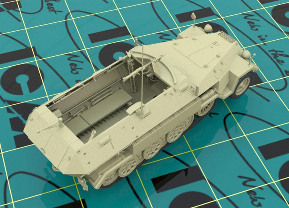 ドイツ Sd.Kfz.251/1 Ausf.A 装甲兵員輸送車 w/ドイツ歩兵プラモデル(ICM1/35 ミリタリービークル・フィギュアNo.35103)商品画像_2