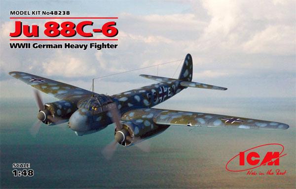 ユンカース Ju88C-6 重戦闘機プラモデル(ICM1/48 エアクラフト プラモデルNo.48238)商品画像