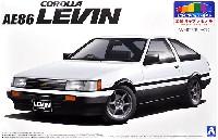 トヨタ AE86 レビン '83 (ホワイト/ブラック)
