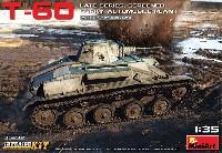 ミニアート1/35 WW2 ミリタリーミニチュアT-60 後期型 増加装甲 ゴーリキー自動車工場製 フルインテリア