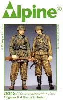 アルパイン1/35 フィギュアWW2 ドイツ SS 擲弾兵 44-45 (2体セット)