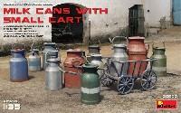 ミニアート1/35 ビルディング&アクセサリー シリーズミルク缶と小型カート