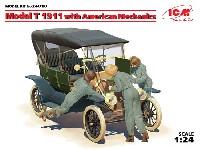 ICM1/24 カーモデルT型フォード 1911 w/アメリカ 女性整備士