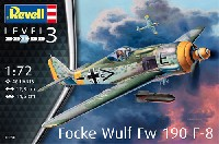 レベル1/72 飛行機フォッケウルフ Fw190F-8