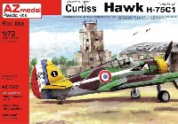 AZ model1/72 エアクラフト プラモデルカーチス ホーク H-75C1北アフリカ戦線