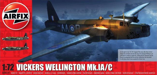 ヴィッカース ウェリントン Mk.1A/Cプラモデル(エアフィックス1/72 ミリタリーエアクラフトNo.A08019)商品画像