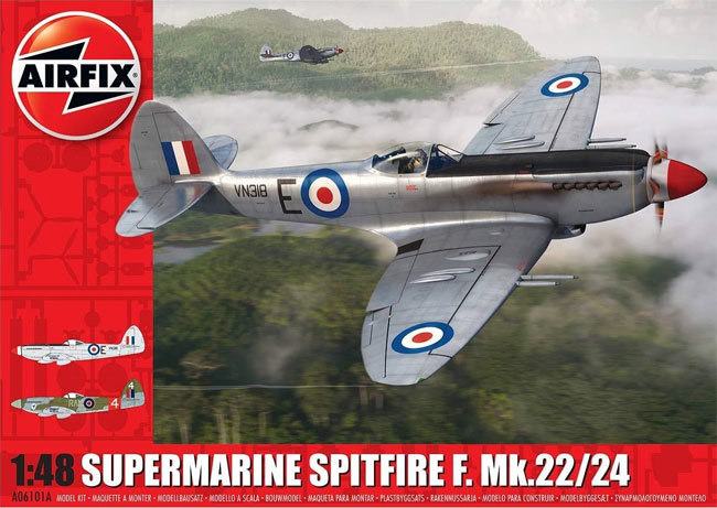 スーパーマリーン スピットファイア F. Mk.22/24プラモデル(エアフィックス1/48 ミリタリーエアクラフトNo.A06101A)商品画像