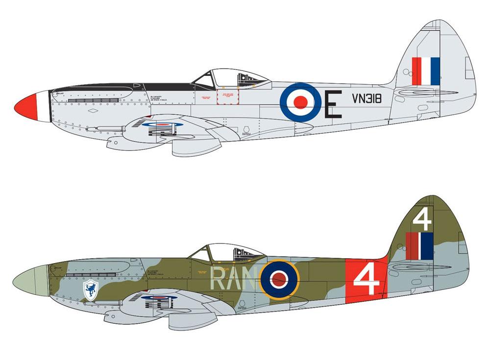 スーパーマリーン スピットファイア F. Mk.22/24プラモデル(エアフィックス1/48 ミリタリーエアクラフトNo.A06101A)商品画像_1