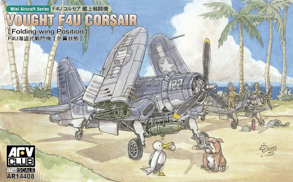 F4U コルセア 艦上戦闘機 (主翼折畳状態)プラモデル(AFV CLUB1/144 エアクラフトシリーズNo.AR14408)商品画像_1